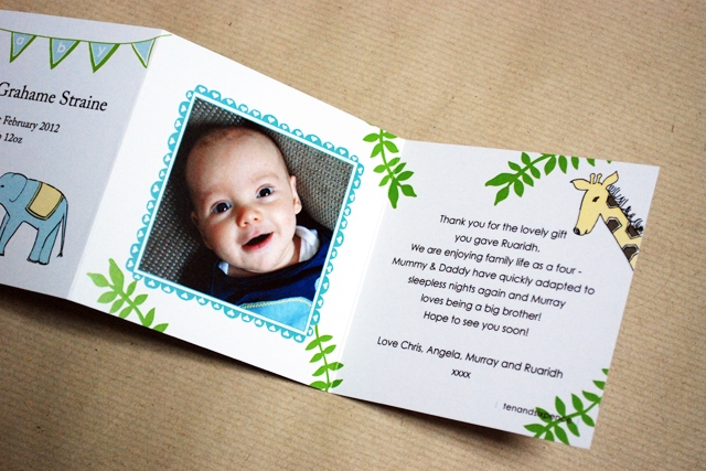 Jungle Baby Thank You Cards
