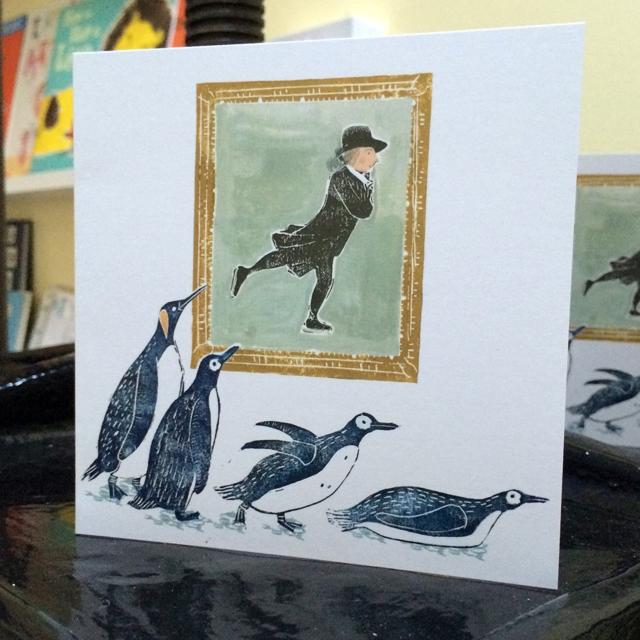 Personalised 'Skating Minister' Xmas Cards