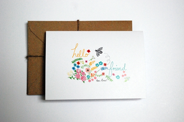 'Hello Friend' card set