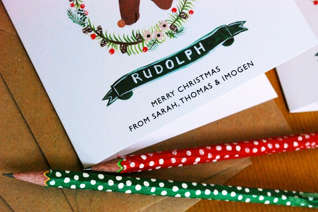 Rudolf cards by ten and sixpence