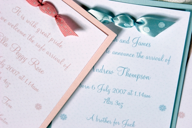 Polkadot Invitations - set of 10