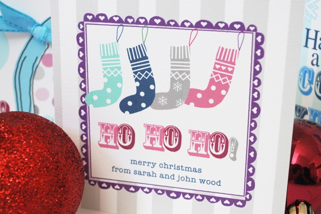 Personalised 'Stockings' Christmas card