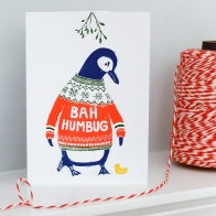 Personalised 'Bah Humbug!' Xmas Cards