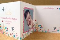 'bee-autiful' baby thank you cards from ten and sixpence
