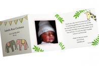 Jungle Baby Thank You Cards Pink