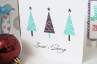 Personalised 'Trees' Christmas Cards