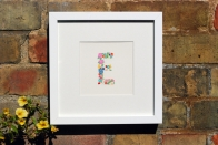 Personalised hand-painted monogram